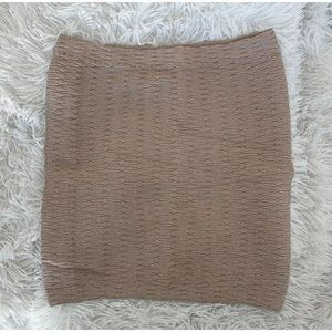 Boohoo Skirts - Women's NEW Taupe Textured Bodycon Mini Skirt, S/M